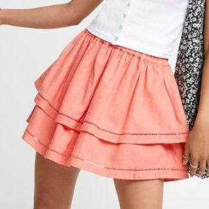 Pink Lace Spliced Mini Skirt Size's 8 To 16